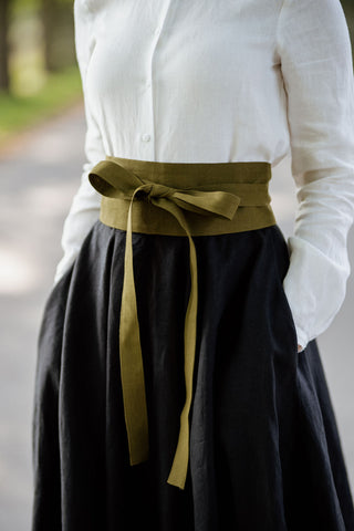 Ribbon Belt, Rosemary Green