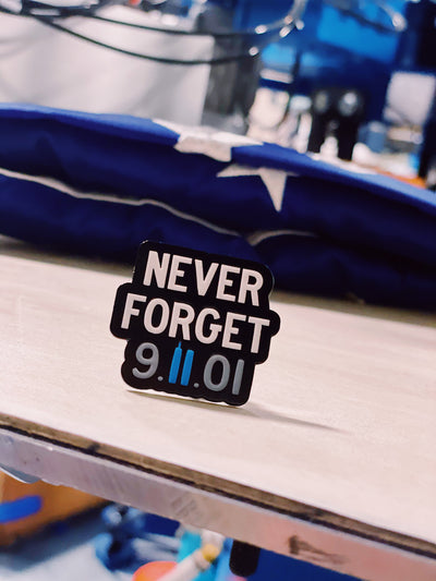 Never Forget 9/11 Memorial Pin