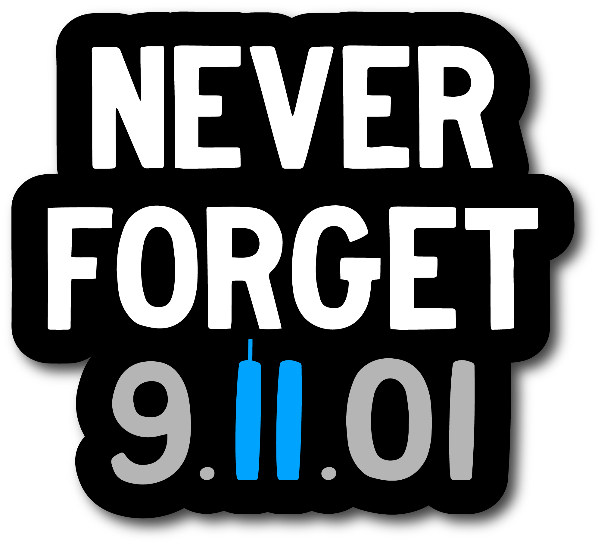 Never Forget 9/11 Memorial Decal