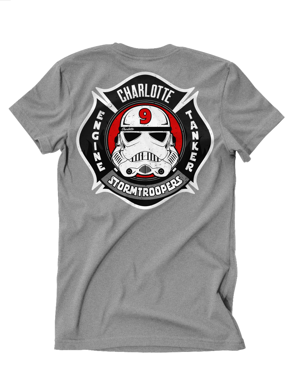 "Charlotte Fire Engine 9 "" StormTrooper "" Kid's Tee"