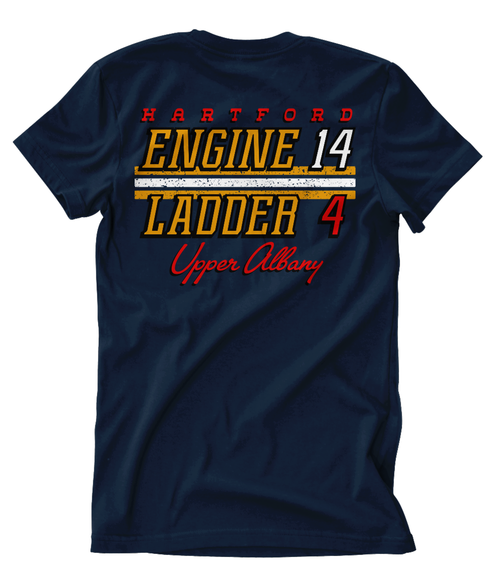 "Hartford Fire Engine 14 Ladder 4 ""Upper Albany"" Tee"