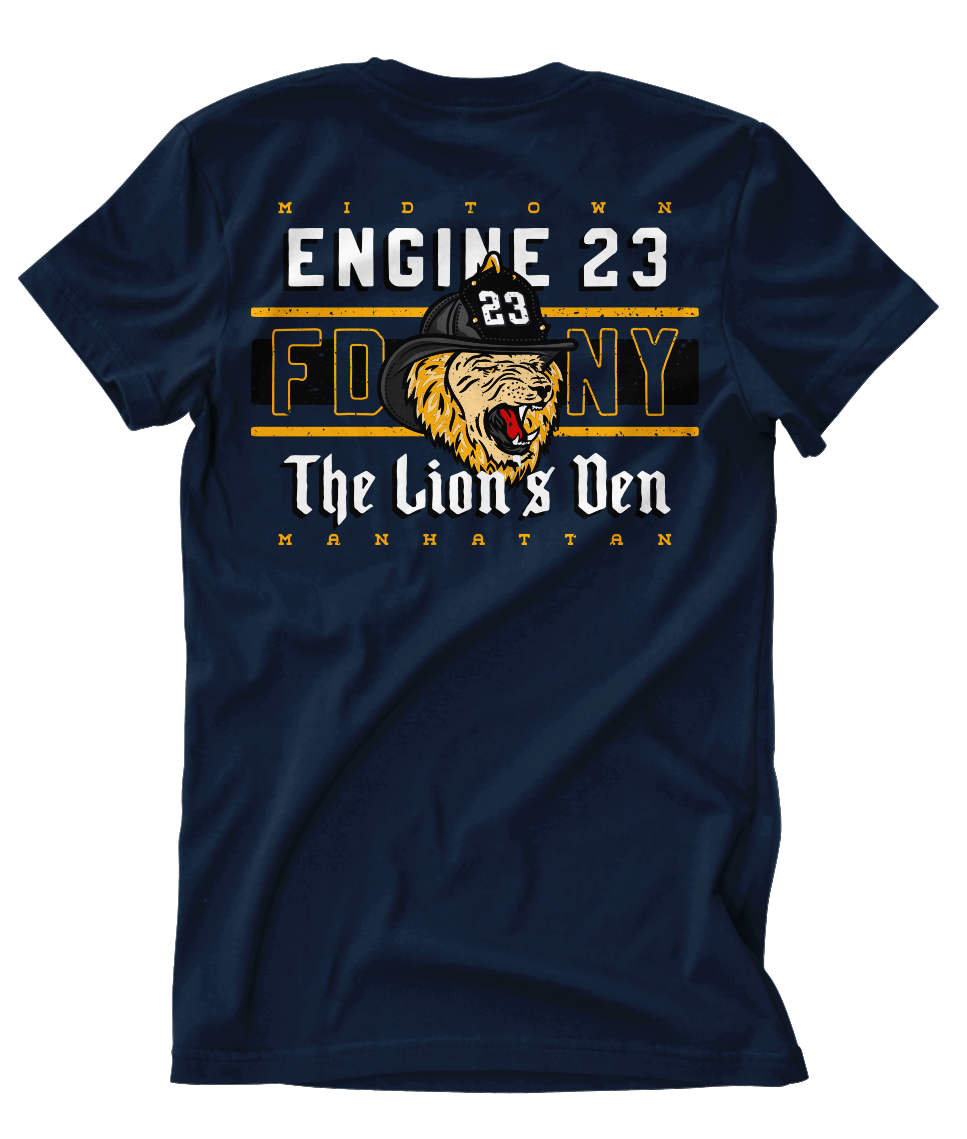 "FDNY ENGINE 23 ""Lion's Den"" Tee"