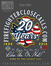 FireFightersclosecalls.com 20th Anniversary Charity Tee Long Sleeve