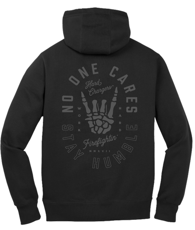 Hard Chargers No One Cares Blackout Hoodie