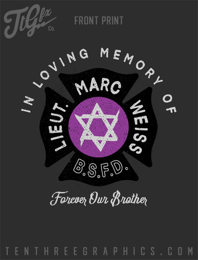 "Lt. Marc Weiss ""Hebrew Hammer"" Memorial Tee"
