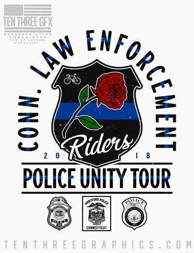 CT Law Enforcement Riders Unity Tour Tee