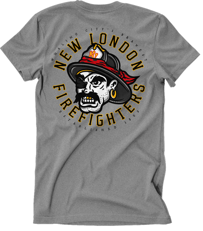 New London Firefighters Pirate Tee