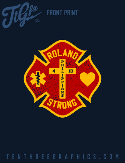 "Lake County Fire Rescue ""ROLAND STRONG"" Support Tee"