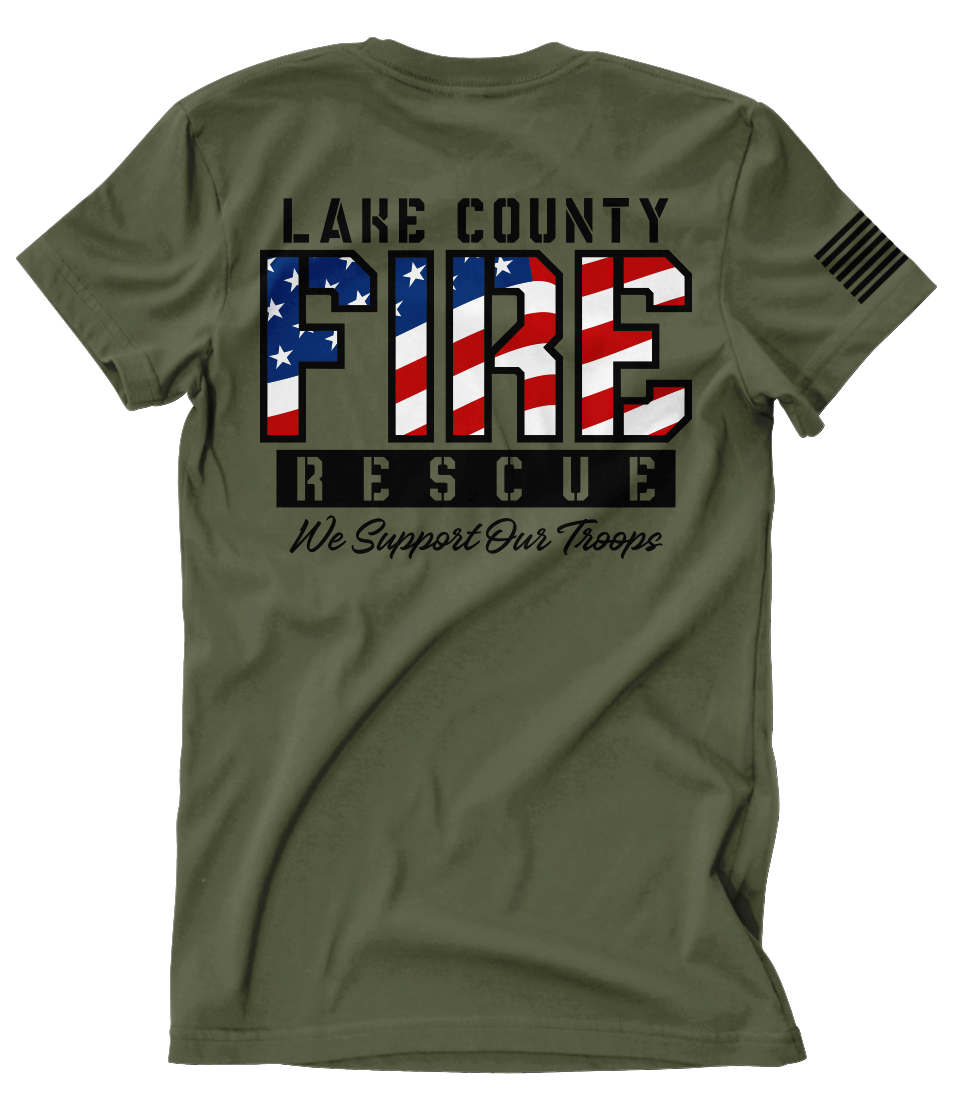Lake County FF (FL) L3990 Support Our Troops