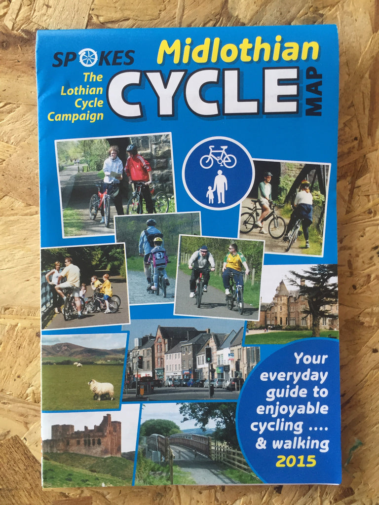Spokes Mid Lothian cycle map