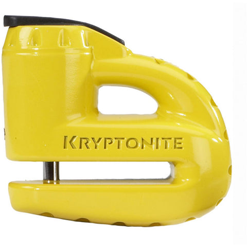 Keeper 5-S disc lock - with reminder cable - yellow