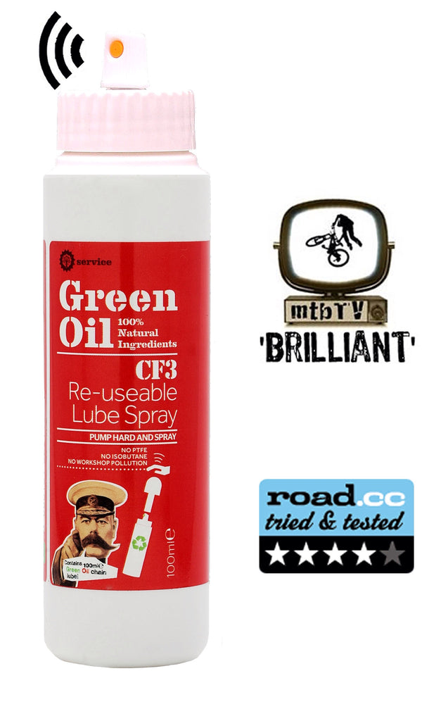 Green Oil CF3 Re-usable Lube Spray