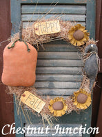 Happy Fall Wreath ePattern