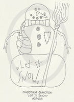 Let It Snow Embroidery Epattern