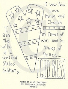 Wife of a U.S. Soldier Embroidery Epattern
