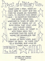 Military Mom Prayer Embroidery ePattern