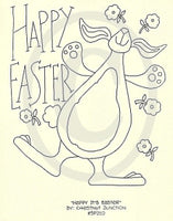 Happy It's Easter Embroidery ePattern
