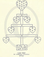 Love Tree Embroidery ePattern