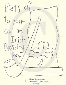 Irish Blessing Embroidery ePattern
