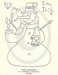 Irish Snowman Embroidery ePattern