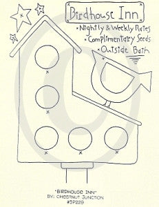 Birdhouse Inn Embroidery ePattern