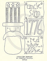 Uncle Sam Sampler Embroidery ePattern
