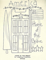 Home Of The Brave Embroidery ePattern