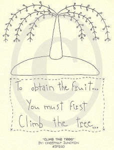 Climb The Tree Embroidery ePattern