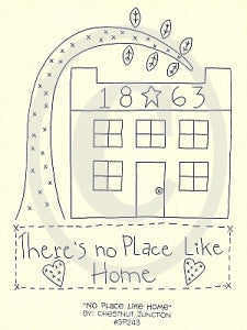 No Place Like Home Embroidery ePattern