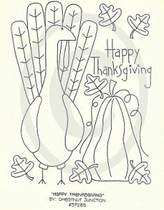 Happy Thanksgiving Embroidery ePattern