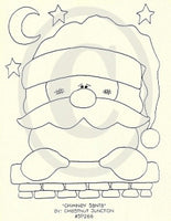 Chimney Santa Embroidery ePattern