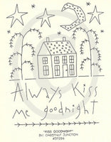 Kiss Goodnight Embroidery ePattern