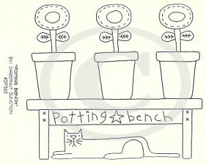 Potting Bench Embroidery ePattern