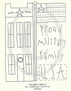 Military Family Embroidery ePattern
