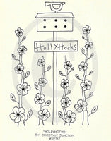 Hollyhocks Embroidery ePattern