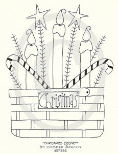 Christmas Basket Embroidery ePattern
