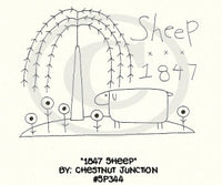 1847 Sheep Embroidery ePattern