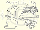 Acorns For Sale Embroidery ePattern