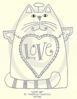 Love Cat Embroidery ePattern