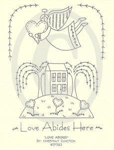 Love Abides Here Embroidery ePattern