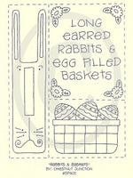 Rabbits and Baskets Embroidery ePattern