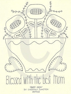 Best Mom Embroidery ePattern