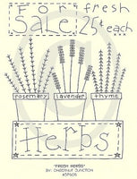 Fresh Herbs Embroidery ePattern