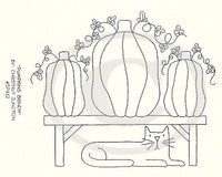 Pumpkins Bench Embroidery ePattern