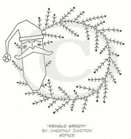 Kringle Wreath Embroidery ePattern