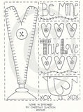 Love And Stitches Embroidery ePattern