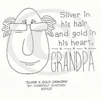 Silver and Gold Grandpa Embroidery ePattern