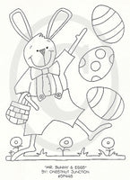 Mr. Bunny and Eggs Embroidery ePattern