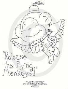 Flying Monkey Embroidery ePattern