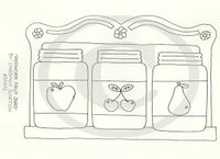 Redwork Fruit Jars Embroidery ePattern